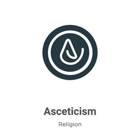 Asceticism vector icon on white background. Flat vector asceticism icon symbol sign from modern religion collection for mobile concept and web apps design.