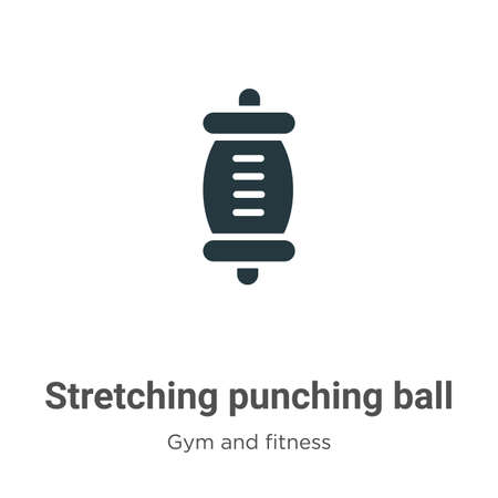 Stretching punching ball vector icon on white background. Flat vector stretching punching ball icon symbol sign from modern gym and fitness collection for mobile concept and web apps design.