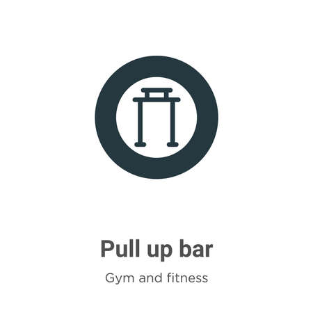 Pull up bar vector icon on white background. Flat vector pull up bar icon symbol sign from modern gym and fitness collection for mobile concept and web apps design.