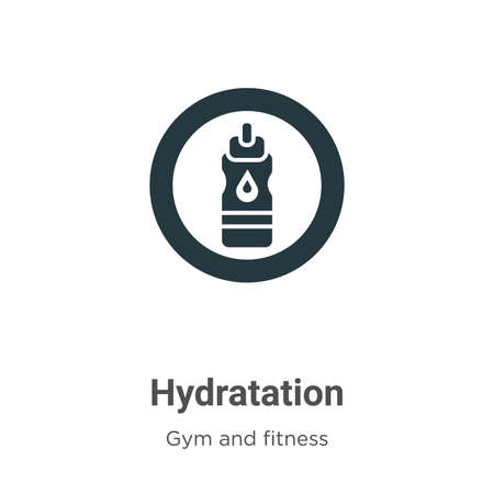 Hydratation vector icon on white background. Flat vector hydratation icon symbol sign from modern gym and fitness collection for mobile concept and web apps design. Иллюстрация