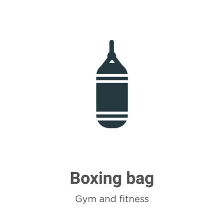 Boxing bag vector icon on white background. Flat vector boxing bag icon symbol sign from modern gym and fitness collection for mobile concept and web apps design.
