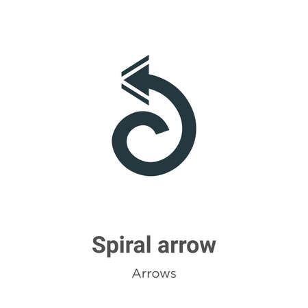 Spiral arrow vector icon on white background. Flat vector spiral arrow icon symbol sign from modern arrows collection for mobile concept and web apps design.