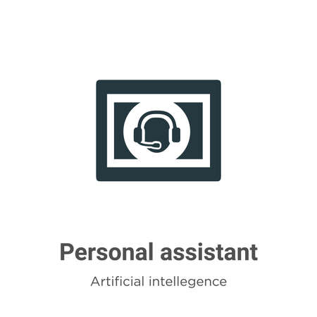Personal assistant vector icon on white background. Flat vector personal assistant icon symbol sign from modern artificial intellegence and future technology collection for mobile concept and web apps Ilustração