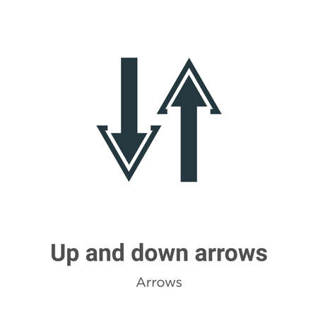 Up and down arrows vector icon on white background. Flat vector up and down arrows icon symbol sign from modern arrows collection for mobile concept and web apps design.