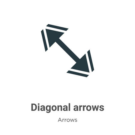 Diagonal arrows vector icon on white background. Flat vector diagonal arrows icon symbol sign from modern arrows collection for mobile concept and web apps design. Ilustração