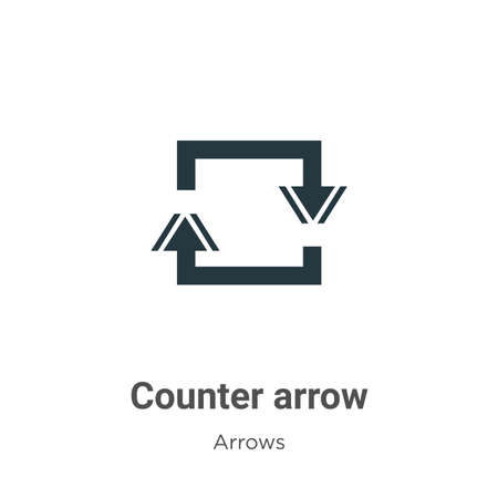 Counter arrow vector icon on white background. Flat vector counter arrow icon symbol sign from modern arrows collection for mobile concept and web apps design. Ilustração