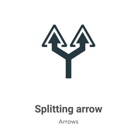 Splitting arrow vector icon on white background. Flat vector splitting arrow icon symbol sign from modern arrows collection for mobile concept and web apps design.
