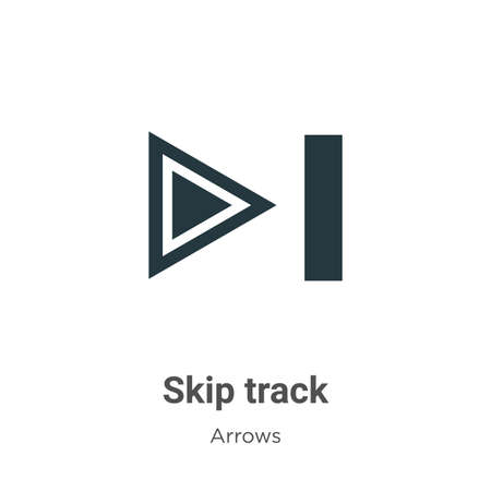Skip track vector icon on white background. Flat vector skip track icon symbol sign from modern arrows collection for mobile concept and web apps design. Ilustração
