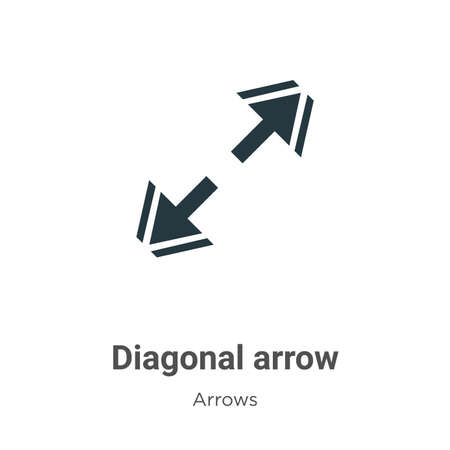 Diagonal arrow vector icon on white background. Flat vector diagonal arrow icon symbol sign from modern arrows collection for mobile concept and web apps design.