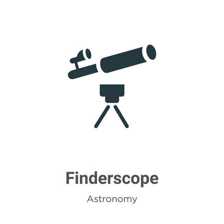 Finderscope vector icon on white background. Flat vector finderscope icon symbol sign from modern astronomy collection for mobile concept and web apps design.