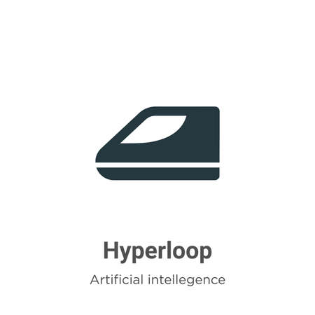 Hyperloop vector icon on white background. Flat vector hyperloop icon symbol sign from modern artificial intellegence and future technology collection for mobile concept and web apps design.