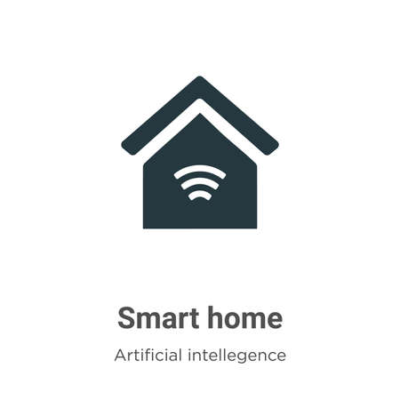 Smart home vector icon on white background. Flat vector smart home icon symbol sign from modern artificial intelligence collection for mobile concept and web apps design.