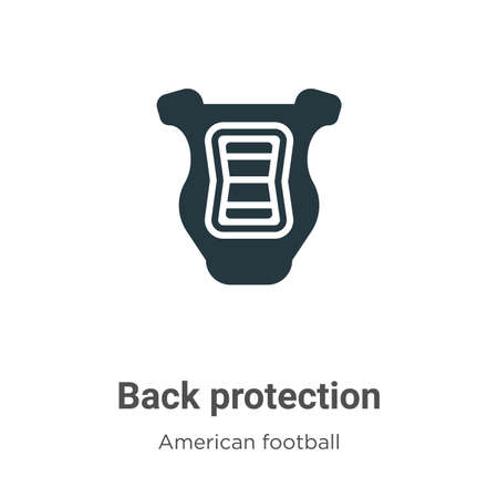 Back protection vector icon on white background. Flat vector back protection icon symbol sign from modern american football collection for mobile concept and web apps design.