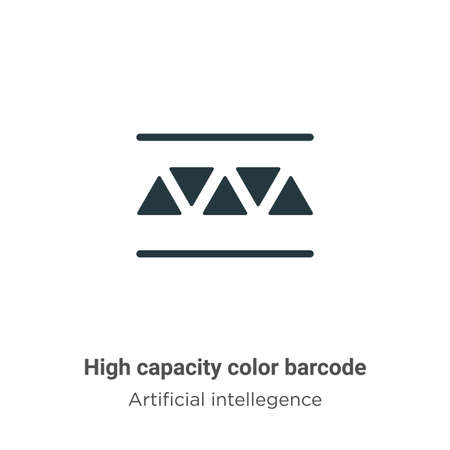High capacity color barcode vector icon on white background. Flat vector high capacity color barcode icon symbol sign from modern artificial intellegence and future technology collection for mobile