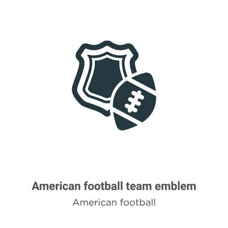 American football team emblem vector icon on white background. Flat vector american football team emblem icon symbol sign from modern american football collection for mobile concept and web apps Ilustração