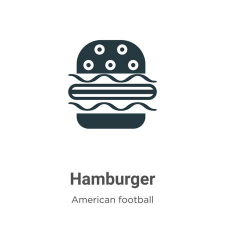 Hamburger vector icon on white background. Flat vector hamburger icon symbol sign from modern american football collection for mobile concept and web apps design.