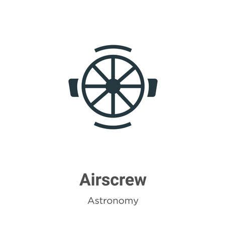 Airscrew vector icon on white background. Flat vector airscrew icon symbol sign from modern astronomy collection for mobile concept and web apps design.