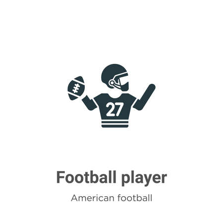 Football player vector icon on white background. Flat vector football player icon symbol sign from modern american football collection for mobile concept and web apps design.