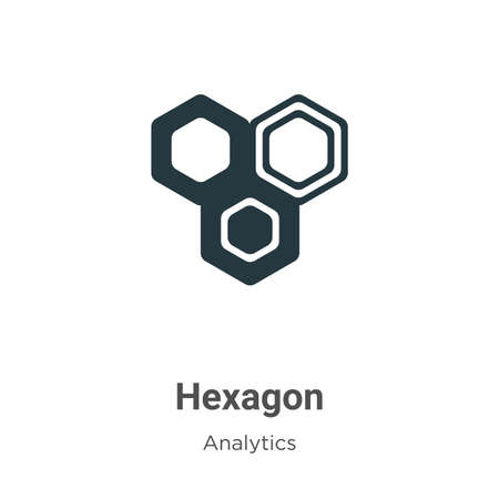 Hexagon vector icon on white background. Flat vector hexagon icon symbol sign from modern analytics collection for mobile concept and web apps design.