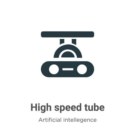 High speed tube vector icon on white background. Flat vector high speed tube icon symbol sign from modern artificial intellegence and future technology collection for mobile concept and web apps