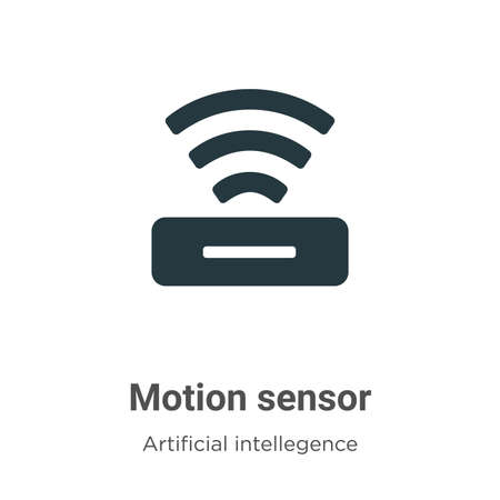 Motion sensor vector icon on white background. Flat vector motion sensor icon symbol sign from modern artificial intellegence and future technology collection for mobile concept and web apps design.