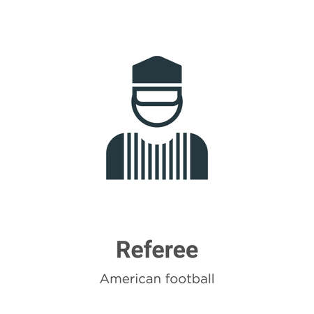 Referee vector icon on white background. Flat vector referee icon symbol sign from modern american football collection for mobile concept and web apps design. Ilustração