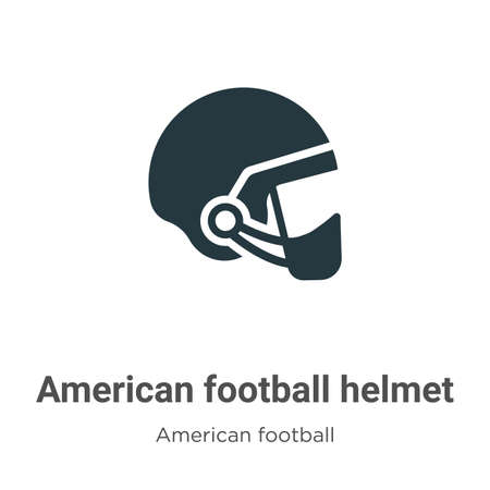 American football helmet vector icon on white background. Flat vector american football helmet icon symbol sign from modern american football collection for mobile concept and web apps design. Ilustração