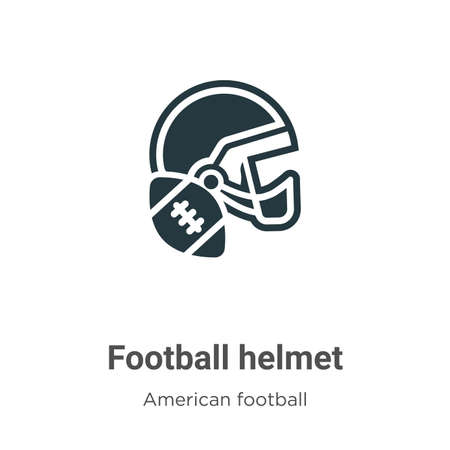 Football helmet vector icon on white background. Flat vector football helmet icon symbol sign from modern american football collection for mobile concept and web apps design.