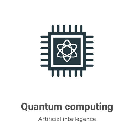 Quantum computing vector icon on white background. Flat vector quantum computing icon symbol sign from modern artificial intellegence and future technology collection for mobile concept and web apps Ilustração