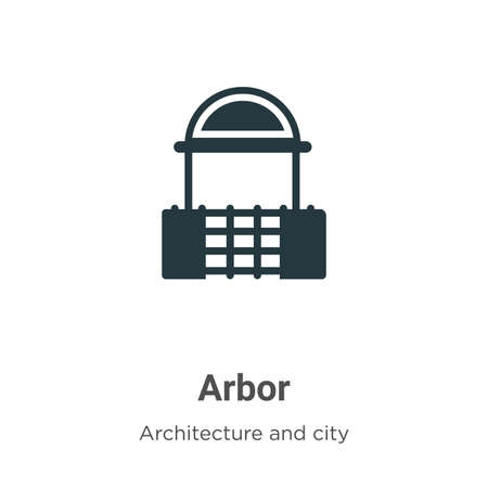 Arbor vector icon on white background. Flat vector arbor icon symbol sign from modern architecture and city collection for mobile concept and web apps design.  イラスト・ベクター素材