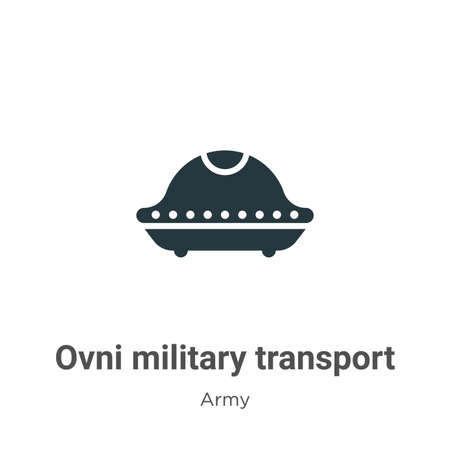 Ovni military transport vector icon on white background. Flat vector ovni military transport icon symbol sign from modern army collection for mobile concept and web apps design.
