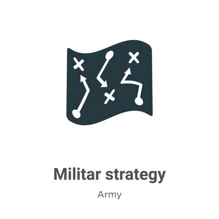 Militar strategy vector icon on white background. Flat vector militar strategy icon symbol sign from modern army collection for mobile concept and web apps design.