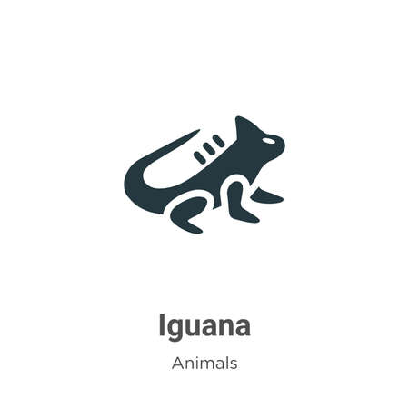 Iguana vector icon on white background. Flat vector iguana icon symbol sign from modern animals collection for mobile concept and web apps design.
