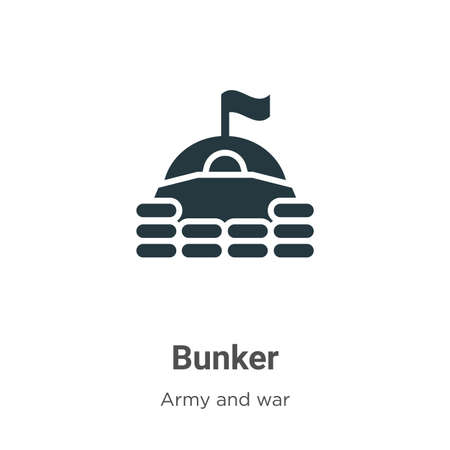 Bunker vector icon on white background. Flat vector bunker icon symbol sign from modern army collection for mobile concept and web apps design.