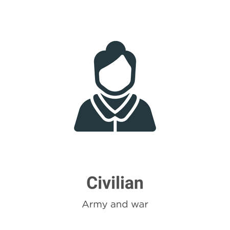 Civilian vector icon on white background. Flat vector civilian icon symbol sign from modern army and war collection for mobile concept and web apps design.