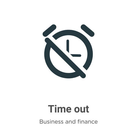 Time out vector icon on white background. Flat vector time out icon symbol sign from modern business and finance collection for mobile concept and web apps design. Vektorové ilustrace
