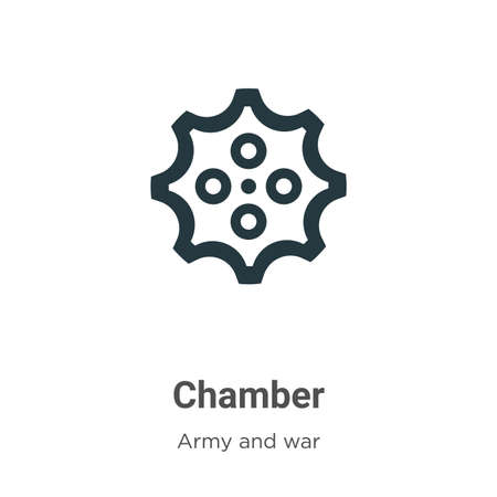 Chamber vector icon on white background. Flat vector chamber icon symbol sign from modern army and war collection for mobile concept and web apps design.