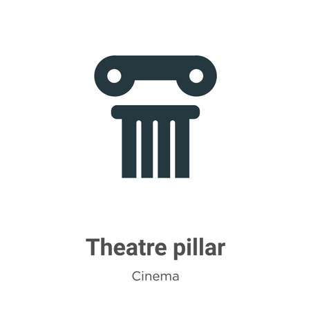 Theatre pillar vector icon on white background. Flat vector theatre pillar icon symbol sign from modern cinema collection for mobile concept and web apps design.