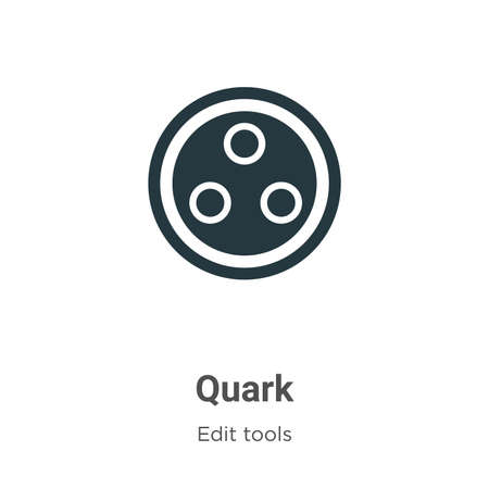 Quark vector icon on white background. Flat vector quark icon symbol sign from modern edit tools collection for mobile concept and web apps design.