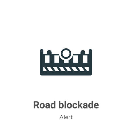 Road blockade vector icon on white background. Flat vector road blockade icon symbol sign from modern alert collection for mobile concept and web apps design.