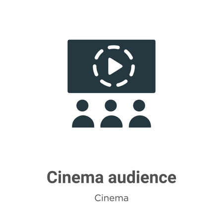 Cinema audience vector icon on white background. Flat vector cinema audience icon symbol sign from modern cinema collection for mobile concept and web apps design. Stock Illustratie