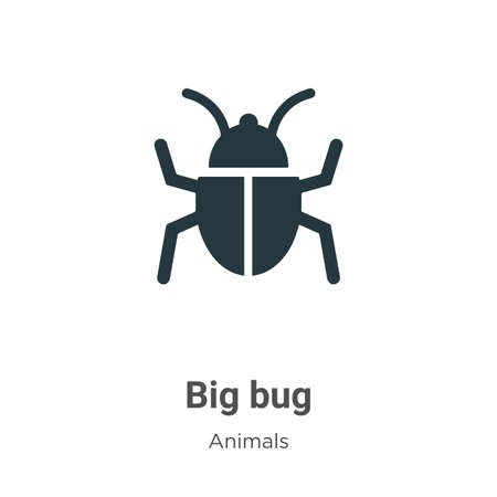 Big bug vector icon on white background. Flat vector big bug icon symbol sign from modern animals collection for mobile concept and web apps design.