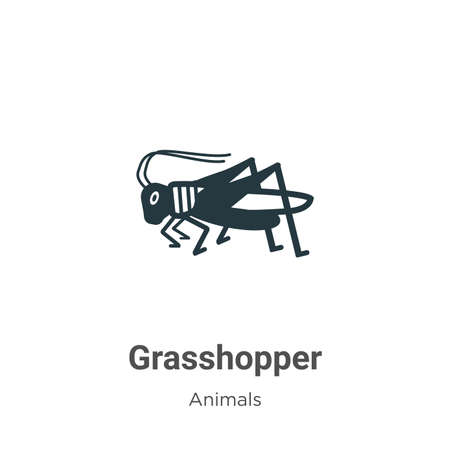 Grasshopper vector icon on white background. Flat vector grasshopper icon symbol sign from modern animals collection for mobile concept and web apps design.