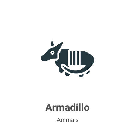 Armadillo vector icon on white background. Flat vector armadillo icon symbol sign from modern animals collection for mobile concept and web apps design.