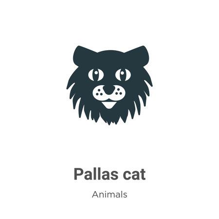 Pallas cat vector icon on white background. Flat vector pallas cat icon symbol sign from modern animals collection for mobile concept and web apps design. Ilustración de vector