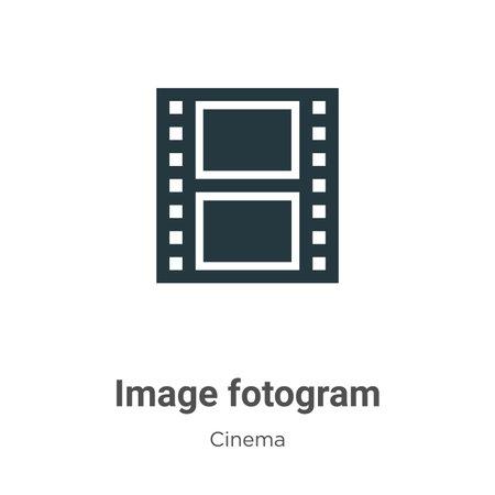 Image fotogram vector icon on white background. Flat vector image fotogram icon symbol sign from modern cinema collection for mobile concept and web apps design. Ilustração