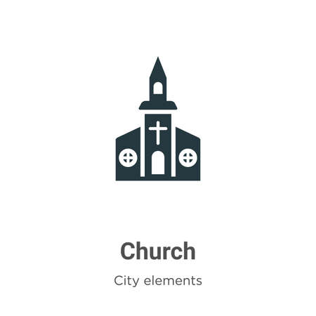 Church vector icon on white background. Flat vector church icon symbol sign from modern city elements collection for mobile concept and web apps design.