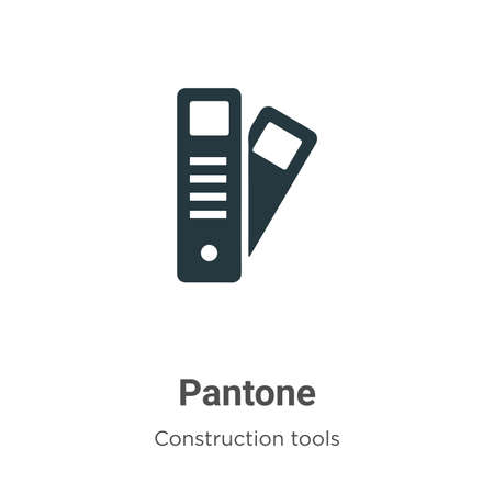 Pantone vector icon on white background. Flat vector pantone icon symbol sign from modern construction tools collection for mobile concept and web apps design. Ilustracja