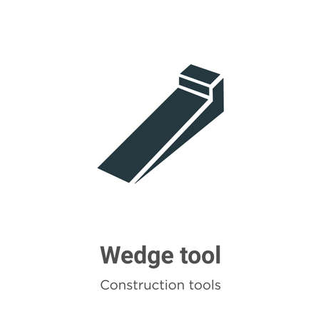 Wedge tool vector icon on white background. Flat vector wedge tool icon symbol sign from modern construction collection for mobile concept and web apps design.