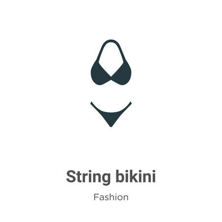 String bikini vector icon on white background. Flat vector string bikini icon symbol sign from modern fashion collection for mobile concept and web apps design. Иллюстрация